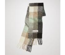 Green/grey/black Large check scarf