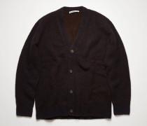 Navy/brown Melange v-neck cardigan