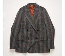 Blue/orange Checked suit jacket