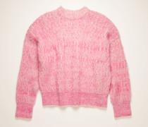 Pink/white Brushed melange sweater