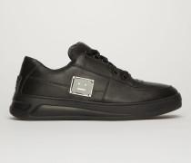 Steffey Lace Up Pl Schwarz/Schwarz Steffey Sneakers mit Logo-Schild