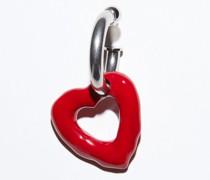 Herz-Ohrring aus Messing