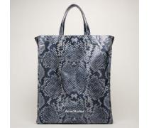 Black/white Python-print tote bag
