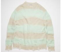 Mint/grey Block stripe sweater