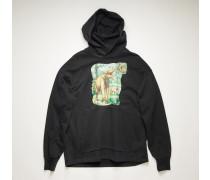 Dinosaur print hooded sweatshirt