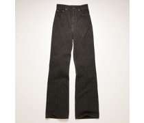 1990 Pinstripe High-rise bootcut jeans