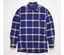Electric blue/off white Flannel overshirt