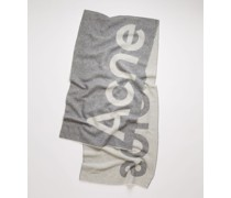 Logo-jacquard scarf