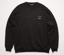 Oversized-Sweatshirt mit Logo-Schild