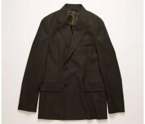 Zweireihige Anzugjacke aus Wolle