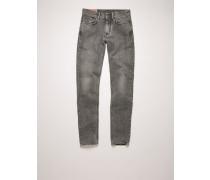 North Dark Stone Grey Jeans in enger Passform mit mittelhohem Bund