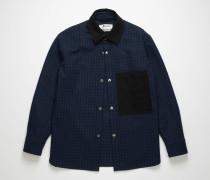 Marineblau/Schwarz Jacke mit Vichy-Karo