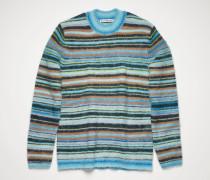 Azure blue/light blue Striped sweater