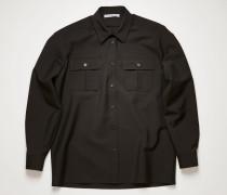 Wool-blend shirt