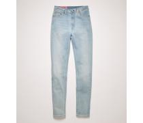 Peg Lt Blue Jeans in enger Passform mit hohem Bund