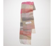 Fuchsia/lilac/pink Large check scarf
