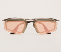 Gold/Rosa Doppellagige Shield-Sonnenbrille
