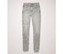 Peg Stone Grey Jeans in enger Passform mit hohem Bund