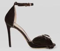 Schmuck-Sandalen aus Samt
