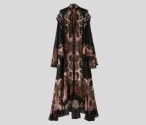 Langes Kleid aus Pekin Lurex
