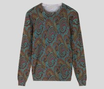 Pullover aus Wolle mit Paisley-Motiven