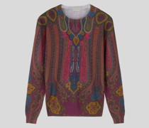 Pullover aus Wolle mit Paisley-Print