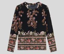 Wollpullover mit Floralem Print