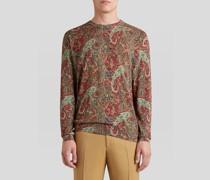 Pullover aus Kaschmir und Seide mit Paisley-Print