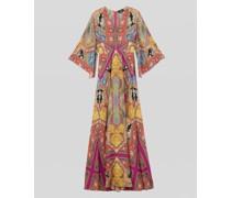 Langes Kleid mit Floralem Paisley-Print