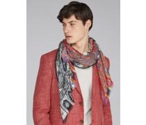 Schal mit Zweifarbigem Paisley-Muster