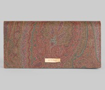 Paisley Brieftasche mit Farbblock-Details