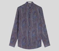 Seidenhemd mit Paisley-Print