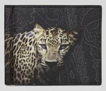 Geldtasche mit Animalier-Print