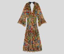 Paisley Kleid aus Seidencrepon