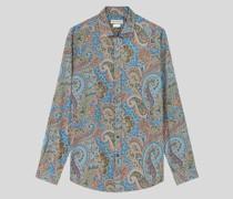Baumwollhemd mit Paisley-Motiven