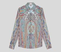 Baumwollhemd mit Paisley-Print