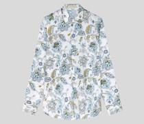 Baumwollhemd mit Floralen Motiven