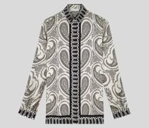 Hemdbluse aus Seide mit Paisley-Print