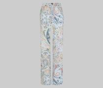 Ausgestellte Jeans mit Floralem Paisley-Print