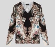 Pullover aus Seide mit Paisley-Motiven