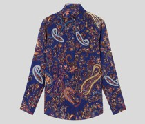 Hemdbluse aus Seide mit Paisley-Motiven