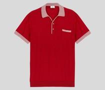Strick-Poloshirt mit Pegaso