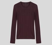 Pullover mit Zopfstreifen-Motiv