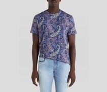 T-Shirt aus Baumwolle mit Floralem Paisley-Print