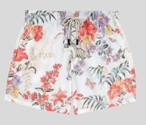 Badehose mit Blumen und Schmetterlingen