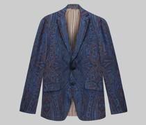 Sartoriales Sakko aus Wolle mit Paisley-Print