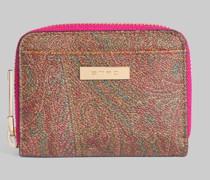 Paisley Brieftasche mit Multicolor-Details