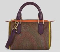 Paisley Mini Bauletto-Tasche mit Multicolor-Details