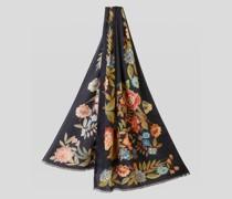 Floraler Schal aus Kaschmir und Seide