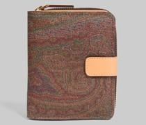 Paisley Brieftasche mit Reiss- und Knopfverschluss